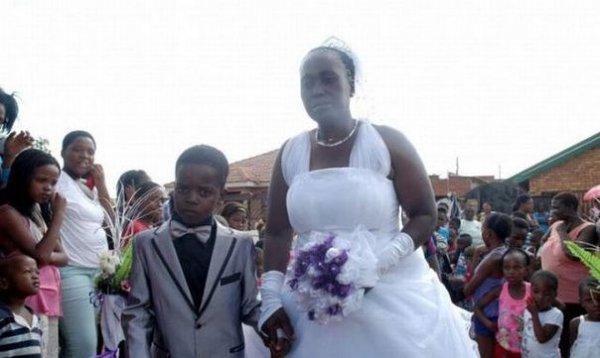8-летний мальчик женился на 61-летней женщине