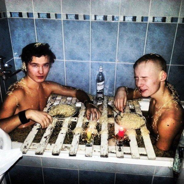 Безумства, которые делали в ванной все