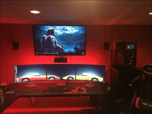 Комнаты, о которых мечтает каждый геймер