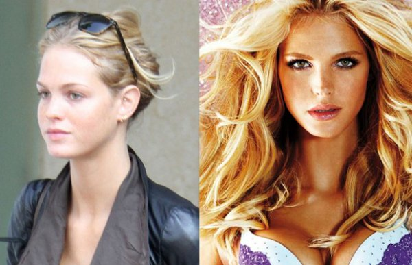 20 самых красивых моделей Victoria's Secret с макияжем и без