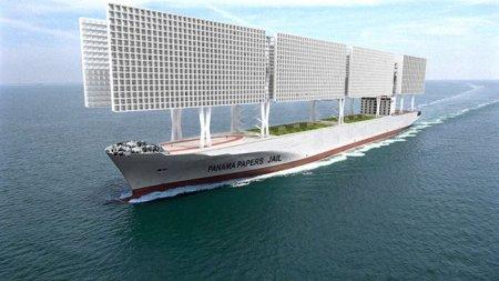 Корабль-тюрьма с открытыми камерами