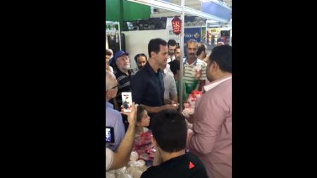 Видео: Башар Асад на рынке в Дамаске