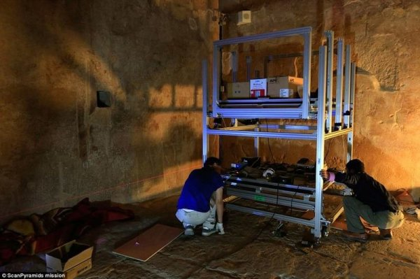 Обнаружена тайная комната внутри пирамиды Хеопса