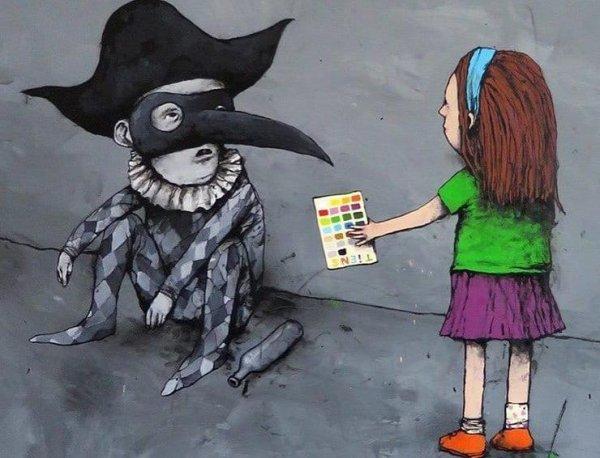 20 иллюстраций от уличного художника, который не боится высказывать своё мнение о современном обществе
