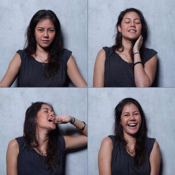 До и после: фотограф снял лица женщин до, во время и после оргазма