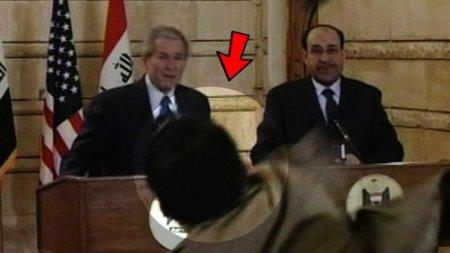 Помните араба, который запустил башмаком в Буша — младшего? Так что же с ним стало?
