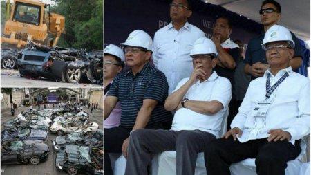5 нравится не нравится Борьба с контрабандой на Филиппинах: более 60 новых люксовых автомобилей отправились под бульдозер
