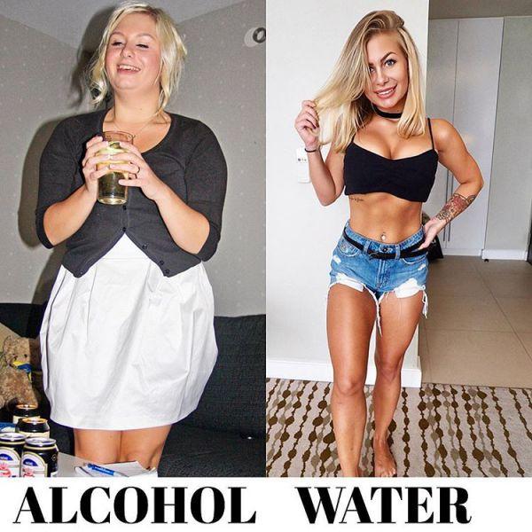 фитнес-модель из Швеции показывает, как может выглядеть тело, если отказаться от алкоголя