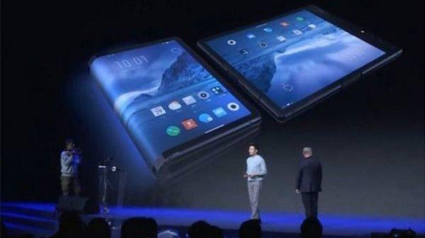 Первый гибкий смартфон представили в Поднебесной