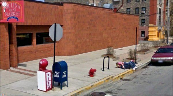 Необычные снимки, сделанные камерами Google Street View