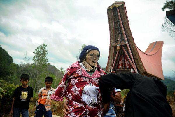 Представители народа тораджи в очередной раз выкопали мертвых родственников