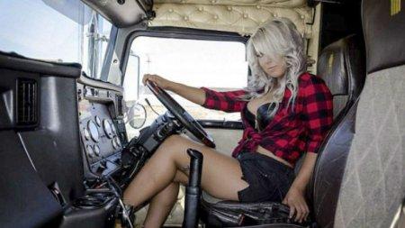 26-летняя дальнобойщица: «Я одеваюсь как Барби, но среди водителей я свой парень»