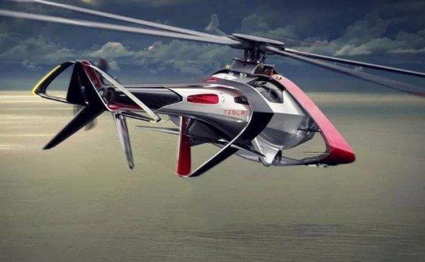 Концепт электрического вертолета от Tesla