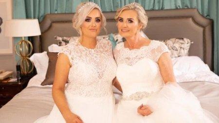 Дочка с мамой сыграли свои свадьбы в один день