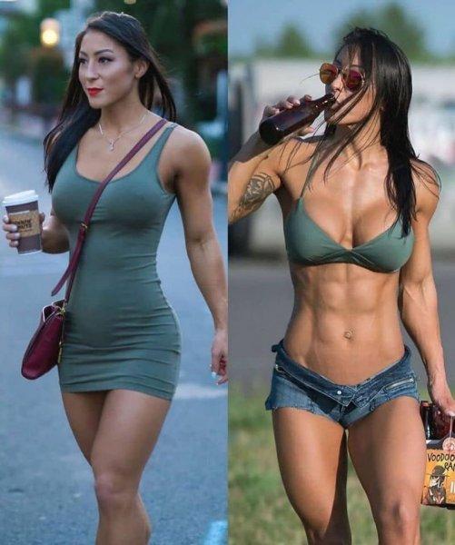 Девушки в форме и без неё