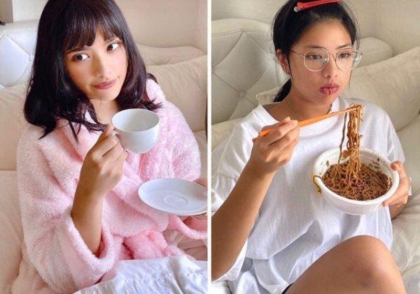 Модель Veinna из Таиланда показывает разницу между фото в социальных сетях и реальной жизни