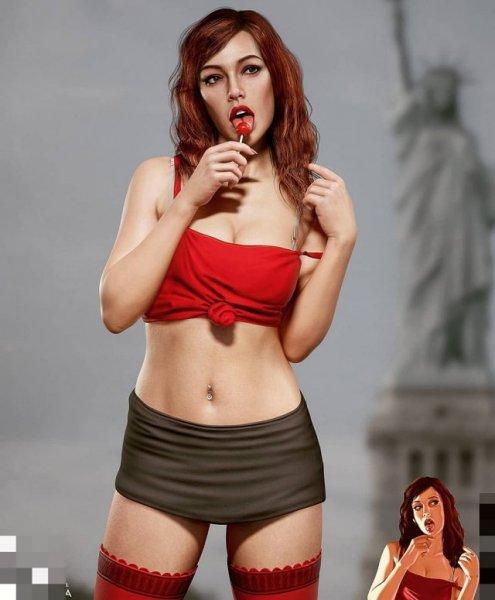 Как бы выглядела рыжая девушка из GTA 4 в реальной жизни