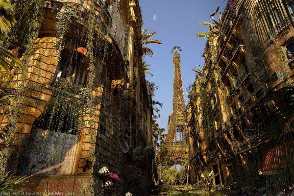 Художник Крис Морин-Эйтнер представил, как выглядели бы города, если бы человечество исчезло